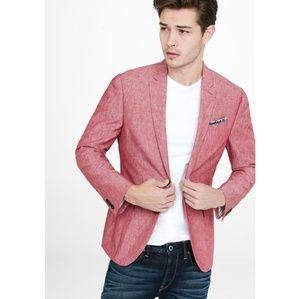 Express slim fit photographer linen-cotton blazer